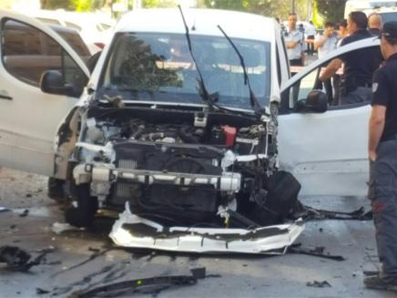 זירת הפיצוץ, בחודש שעבר (צילום: חטיבת דובר המשטרה)