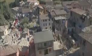 רעידת אדמה באיטליה (צילום: CNN)