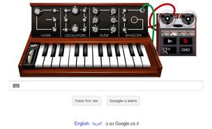 גוגל דודל לכבוד ממציא הסינתיסייזר רוברט מוג (עיצוב: גוגל)