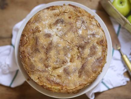 עוגת תפוחים ויוגורט - מלמעלה
