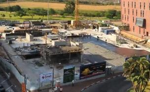 צפו: כך נבנה החניון ברמת החייל (צילום: אייל שפירא)