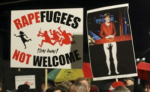 הפגנה בקלן (צילום: חדשות 2)