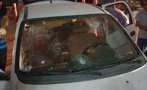 הרכב בו נהג החשוד (צילום: כלי תקשורת פלסטיניים)