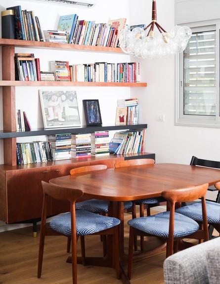 מרב שדה, ג, פינת האוכל והספרייה (צילום: איקו פרנקו)