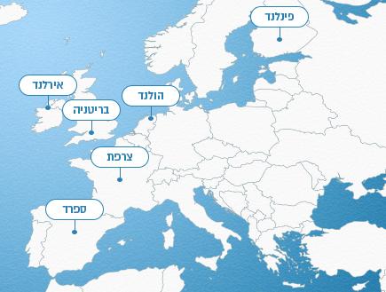 מפת העולם - אירופה (אינפוגרפיקה: סטודיו mako)