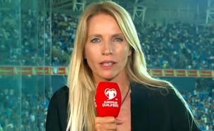שרון פרי, מגישת ספורט בערוץ הראשון (צילום: ערוץ 1)