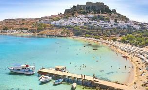מפרץ לינדוס, רודוס יוון (צילום: John_Walker, Shutterstock)