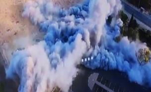 פיצוץ מבוקר במצפה רמון (צילום: חדשות 2)