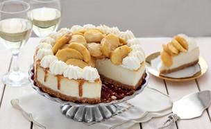 עוגת גבינה עם פקאן ותפוחים (צילום: ענבל לביא, אוכל טוב)