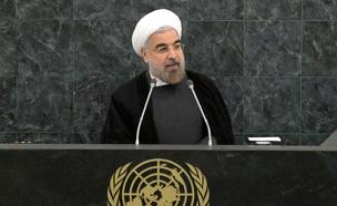 """האיום מאירן - לפנינו"". נשיא אירן רוחאני (צילום: רויטרס)"