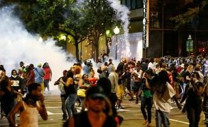 הפגנות בשרלוט, צפון קרוליינה (צילום: רויטרס)
