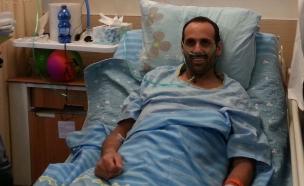 ביסאן בבית החולים לאחר הירי (צילום: עזרי עמרם חדשות 2)