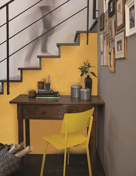 עיצוב זהב, צבע זהב מבית נירלט (צילום: דן לב)