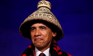 צפו: אובמה והאינדיאנים בבית הלבן (צילום: רויטרס)