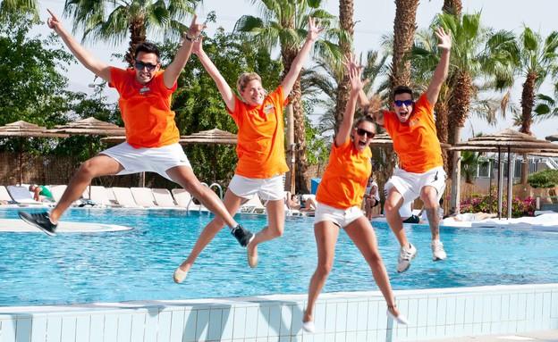 עבודה מועדפת בצוות בידור באילת - מלון יו קורל ביץ' (יח``צ: באדיבות רשמת מלונות פאתל)
