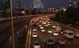 פקקים בתל אביב (צילום: חדשות 2)