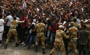 הפגנות אלימות באזורים רבים באתיופיה (צילום: רויטרס)