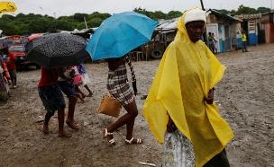 הוריקן בהאיטי (צילום: חדשות 2)