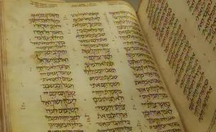 """התנ""""ך העתיק בעולם בספרייה הלאומית (צילום: חדשות 2)"""