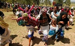 הפגנה באתיופיה (צילום: חדשות 2)