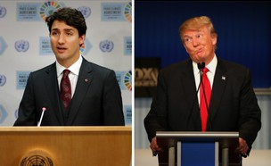 דונלד טראמפ וג'סטין טרודו (צילום: אימג'בנק/GettyImages, getty images)