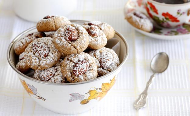עוגיות טחינה ושקדים (צילום: נטלי לוין, אוכל טוב)