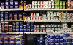 מוצרי חלב בסניף רשת שיווק ברמת גן (צילום: תומר אפלבאום, TheMarker)
