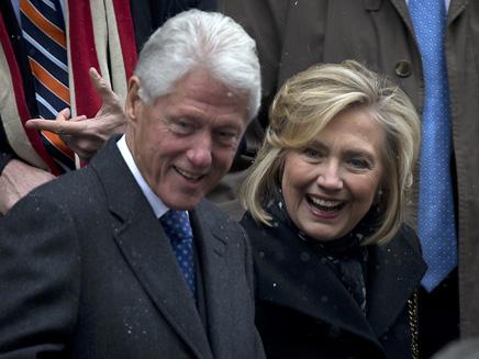 הבעל מזיק בסקרים? הילרי וביל קלינטון (צילום: רויטרס)