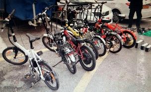 מבחן האופניים החשמליים (צילום: דוברות משטרת ישראל)