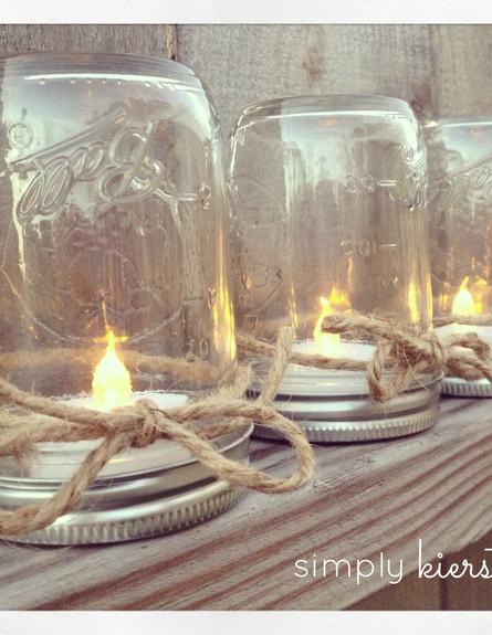 אירוח14, הכנת פמוטים מצנצנות זכוכית (צילום: simplykierste.com)