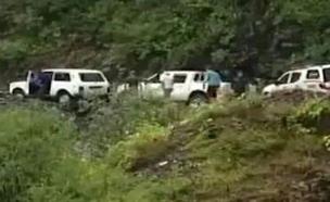 זירת התאונה בגיאורגיה