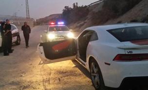 הרכב שנתפס לאחר המרדף (צילום: דוברות המשטרה)