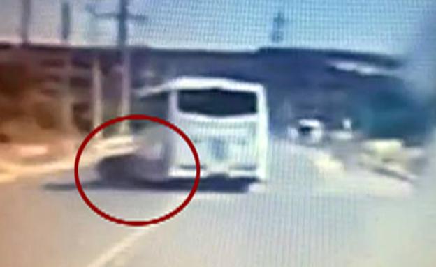 התאונה הקטלנית תועדה במצלמות (צילום: אלי גנון)