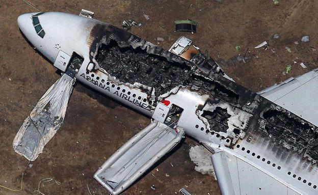 התרסקות מטוס בסן פרנסיסקו (צילום: רויטרס)