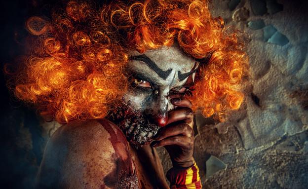 ליצנית מפחידה (צילום: Shutterstock, מעריב לנוער)