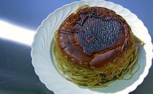"""תבשיל פסטה ועוף על פיתה (צילום: מתוך """"מאסטר שף"""" עונה 7, שידורי קשת)"""