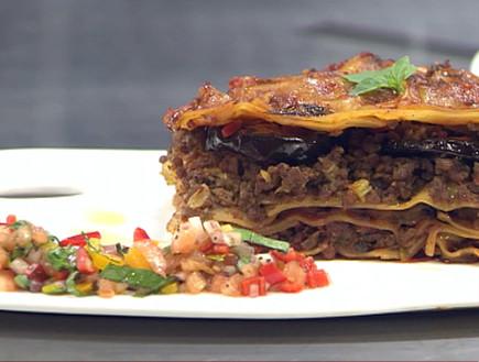 """לזניית חצילים ובשר ברוטב אדום (צילום: מתוך """"מאסטר שף"""" עונה 7, שידורי קשת)"""