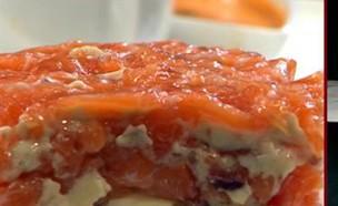 """עוגת סלמון (צילום: מתוך """"מאסטר שף"""" עונה 7, שידורי קשת)"""
