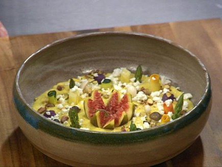 עמק פולנטה עם ירקות מושלגים