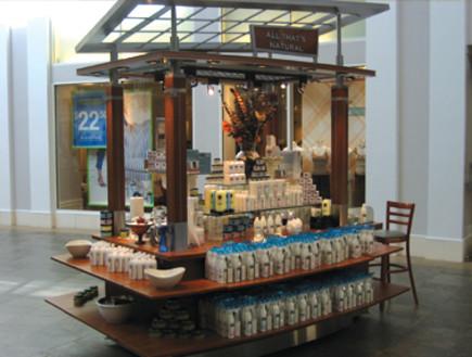 דוכן מכירות בקניון של חברת רסקו בקניון בארצות הברית