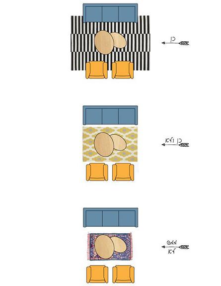 שטיחים05, השפעת גודל השטיח על מראה החלל