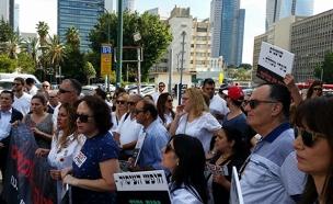 צפו במחאת המתמחים (צילום: עזרי עמרם, חדשות 2)