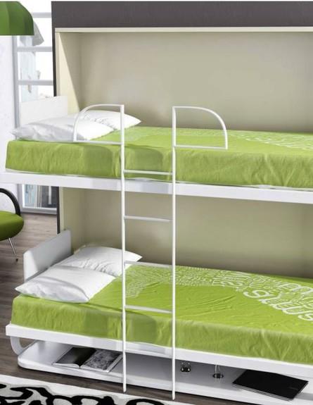 המותג BedLift   של פרד אלבז - מיטת קומתיים משולבת עם שולחן כתיבה,  (צילום: bedlift.co.il)