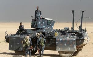 הקרבות במוסול, מוקדם יותר השבוע (צילום: CNN)