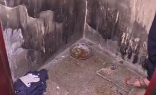 אסירים הוחזקו בתאים בצפיפות ובמחנק (צילום: sky news)