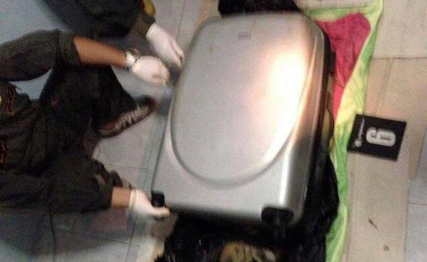 המזוודה בה נמצאו חלקי הגופה