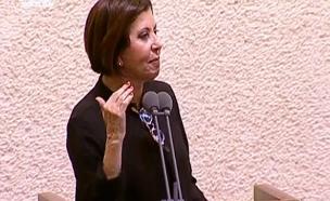 """גלאון לנתניהו: """"תפסיק להתקרבן"""" (צילום: ערוץ הכנסת)"""