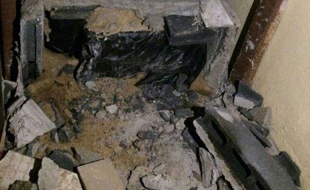 רצפת הבטון בה נטמנה גופת הנרצח