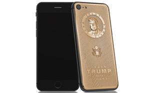 אייפון עם דיוקן מוזהב של דונלד טראמפ (צילום: Caviar)