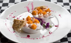 מלבי עם מרנג ועוגיית פיסטוק (צילום: דרור עינב, מאסטר שף)